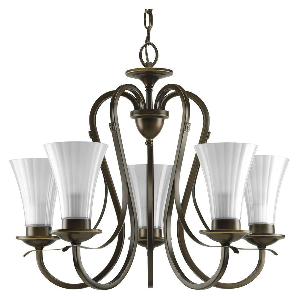 Progress Lighting Melody Collection Oil Rubbed Bronze 5-light Chandelier-DISCONTINUED