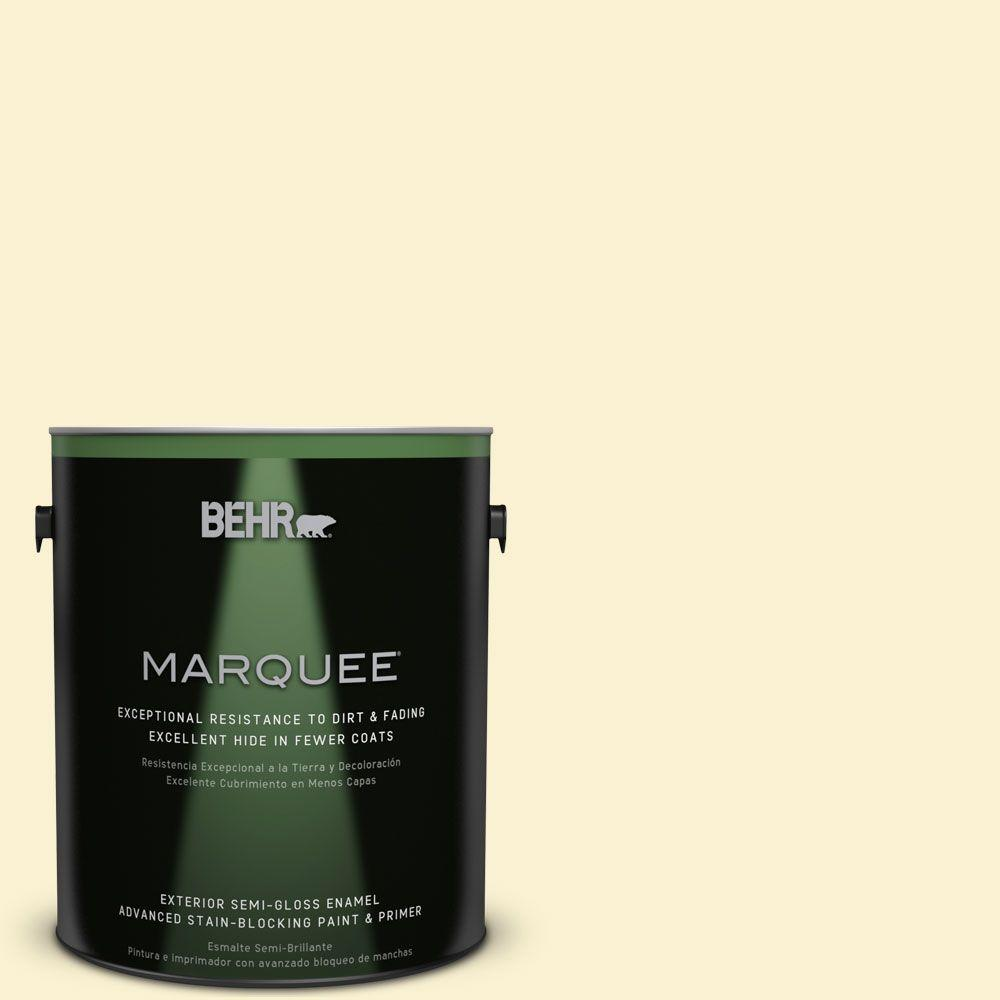 BEHR MARQUEE 1-gal. #ICC-30 Cashmere Sweater Semi-Gloss Enamel Exterior