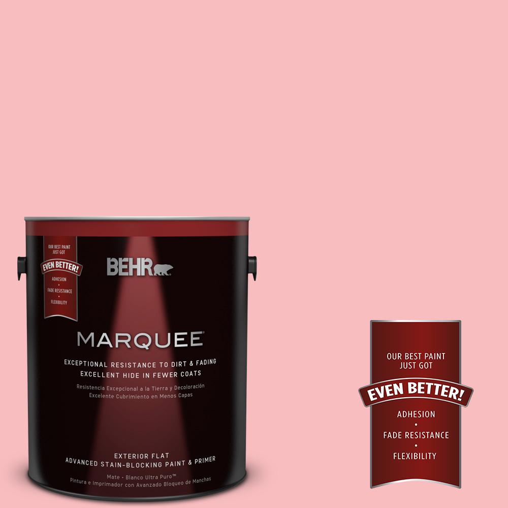 BEHR MARQUEE 1-gal. #140A-3 Carnation Bloom Flat Exterior Paint