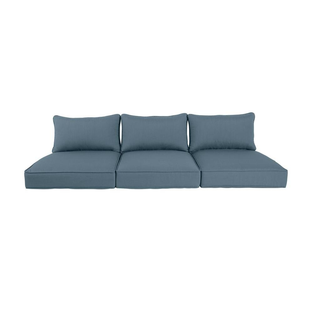 Greystone Denim Replacement Outdoor Sofa Cushion