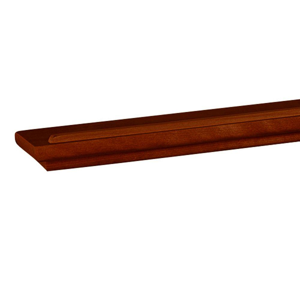 Mantle 12 in. x 6 in. Narrow Chocolate Floating Shelf