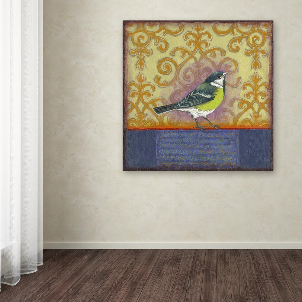 "14 in. x 14 in. ""Small Bird 232"" by Rachel Paxton"