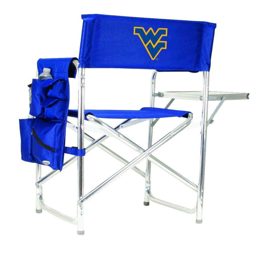 West Virginia University Navy Sports Chair with Digital Logo