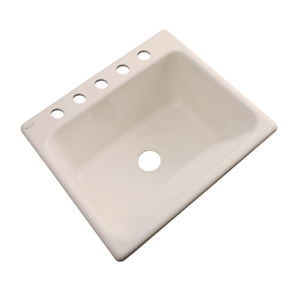 Thermocast Kensington Drop-In Acrylic 25 in. 5-Hole Single Bowl Utility Sink