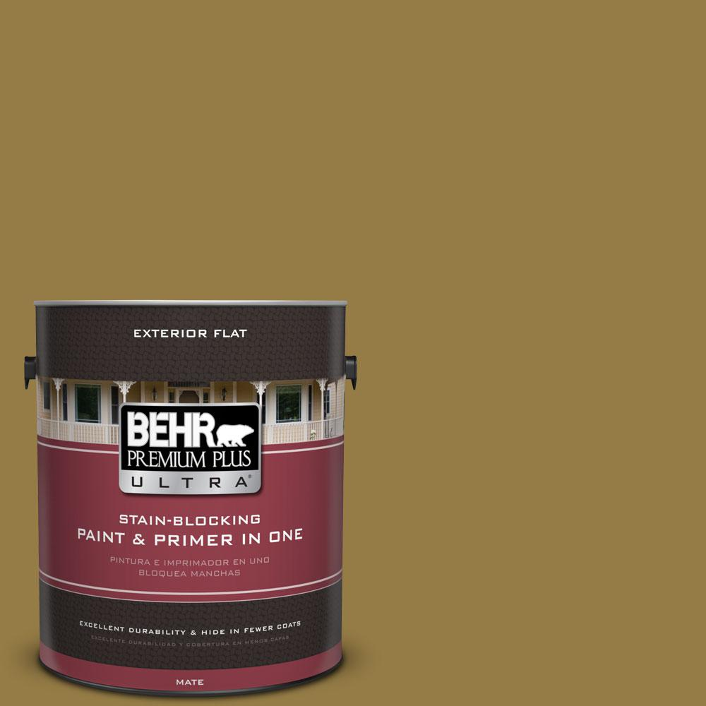 BEHR Premium Plus Ultra 1-gal. #360F-6 Raked Leaves Flat Exterior Paint