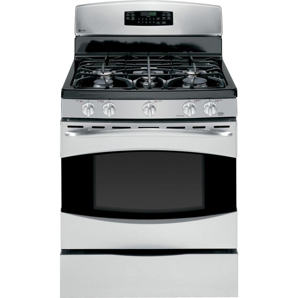 GE Profile 5.4 cu. ft. Gas Range with Self-Cleaning Oven in Stainless Steel