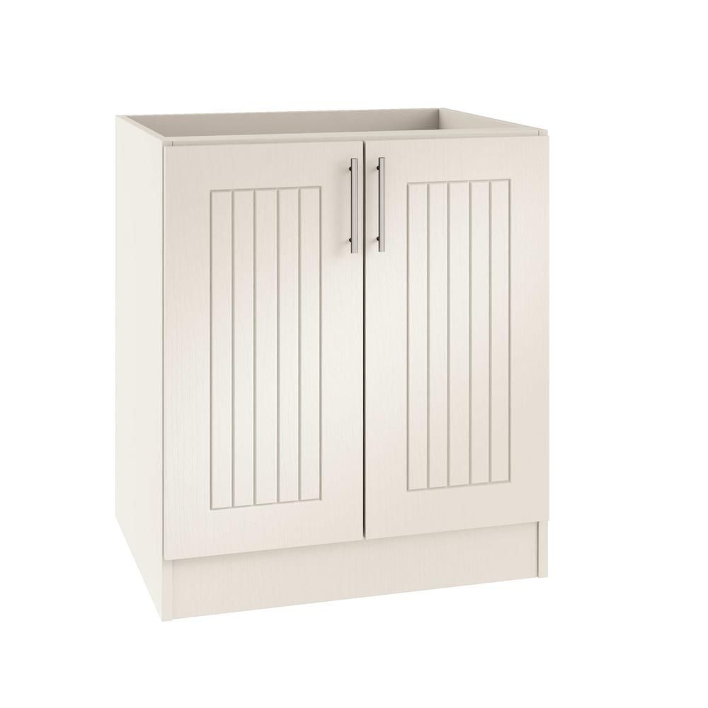 Assembled 36x34.5x24 in. Naples Island Outdoor Kitchen Base Cabinet with 2