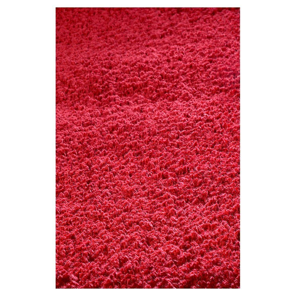 Cushy Shag Red 2 ft. 3 in. x 3 ft. 9