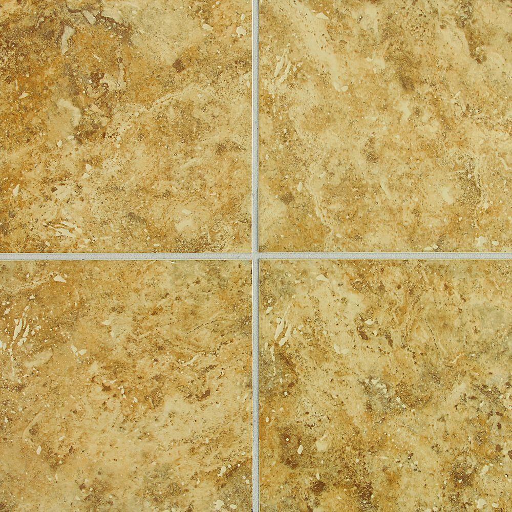 Daltile Heathland Amber 12 in. x 12 in. Glazed Ceramic Floor and Wall Tile (11 sq. ft. / case)