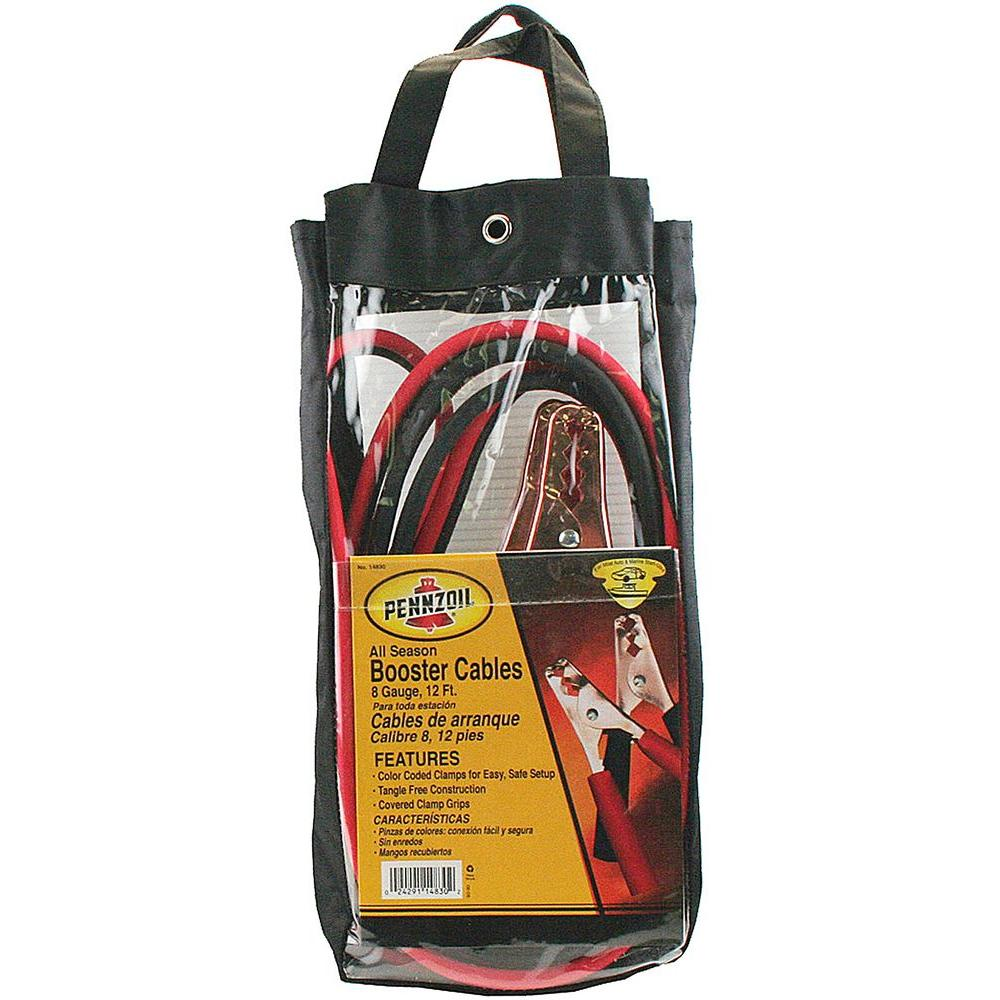 Pennzoil 12 ft. 8-Gauge Booster Cables
