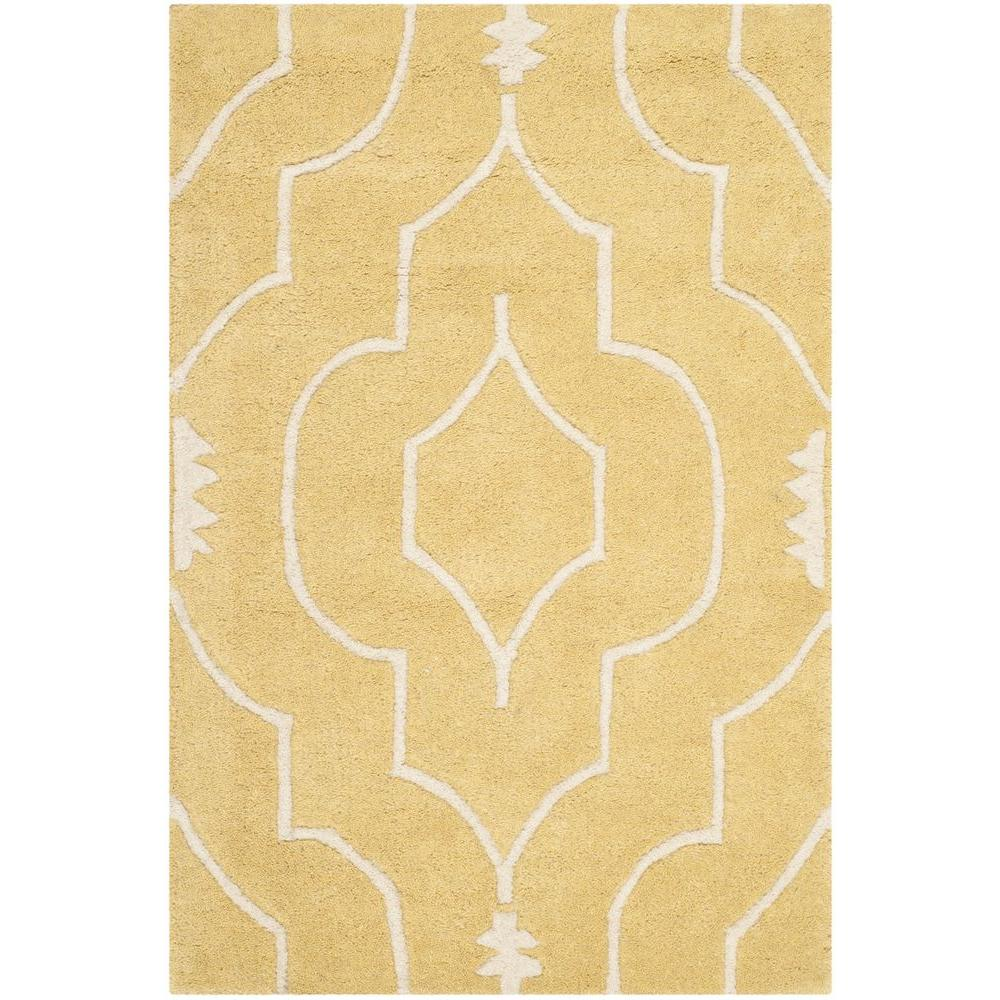 Chatham Light Gold/Ivory 2 ft. x 3 ft. Area Rug