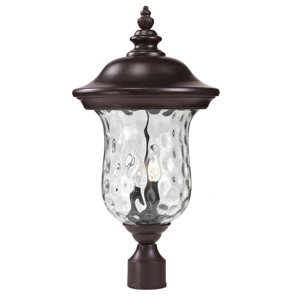 Lawrence 2-Light Bronze Incandescent Outdoor Post Light