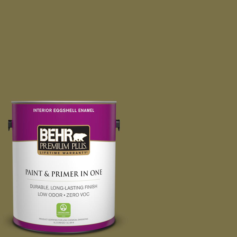 1-gal. #S330-7 Olive Shade Eggshell Enamel Interior Paint