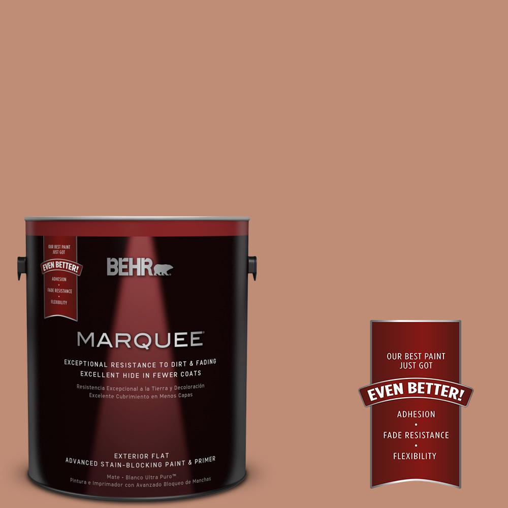 BEHR MARQUEE 1-gal. #230F-5 Suntan Glow Flat Exterior Paint