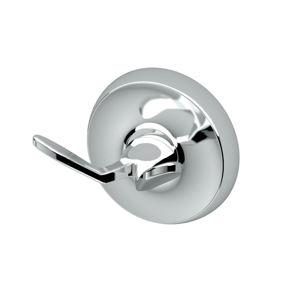Designer II Double Robe Hook in Chrome