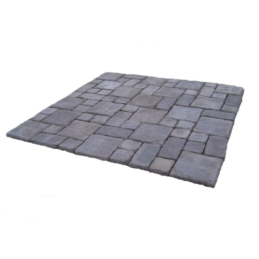 null Cass Stone 100 sq. ft. Gray Concrete Paver Kit