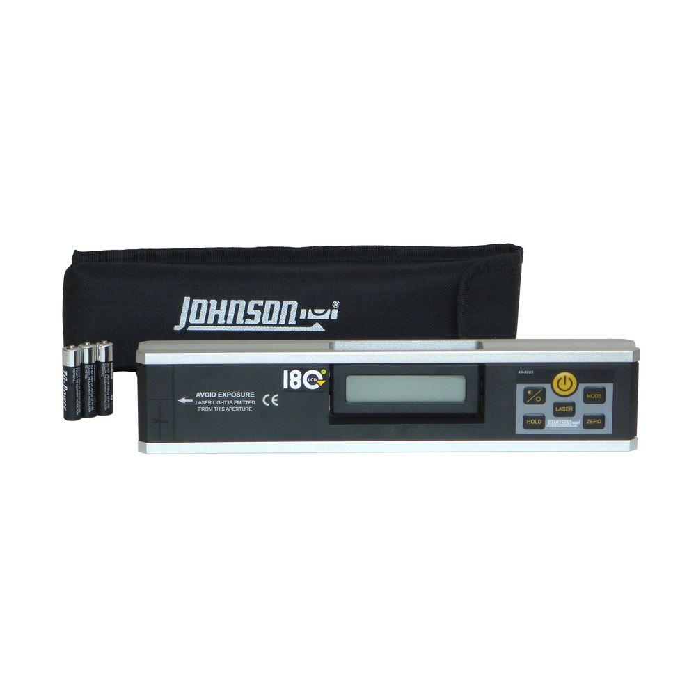 Johnson Electronic Level Inclinometer with Rotating Display-40-6080 - The Home