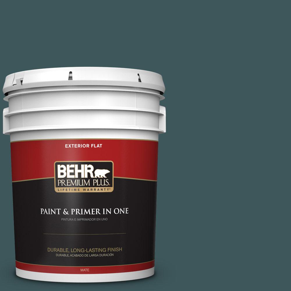 5 gal. #PPU12-01 Abysse Flat Exterior Paint