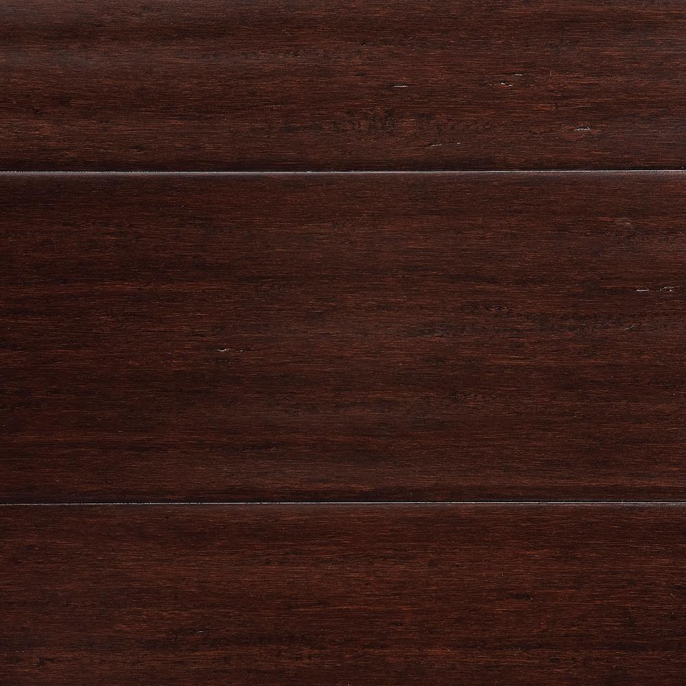 home decorators collection hand scraped strand woven walnut 1/2 in
