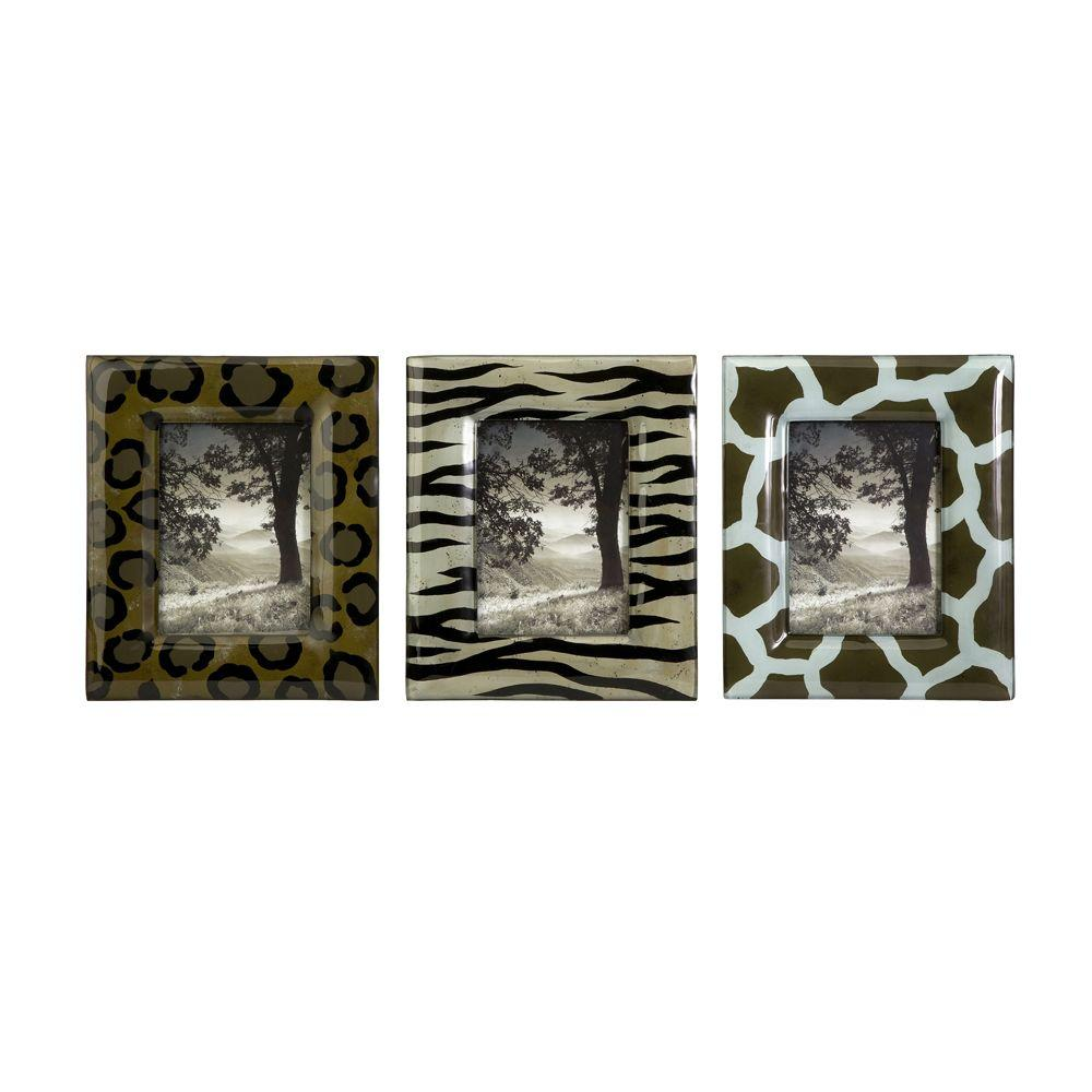 Home Decorators Collection Animal Brown/Black Wildside Handprinted Photo Frames - Set of 3-DISCONTINUED