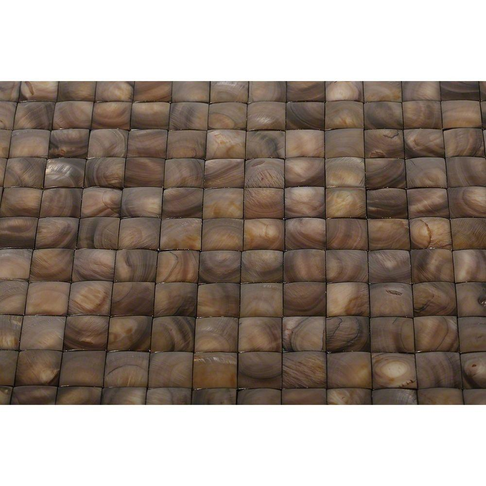 Mother of Pearl Brown 3D Pearl Shell Mosaic Floor and Wall