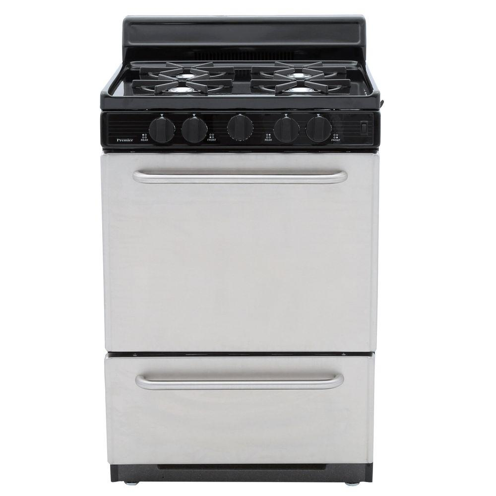 24 in. 2.97 cu. ft. Gas Range in Stainless Steel