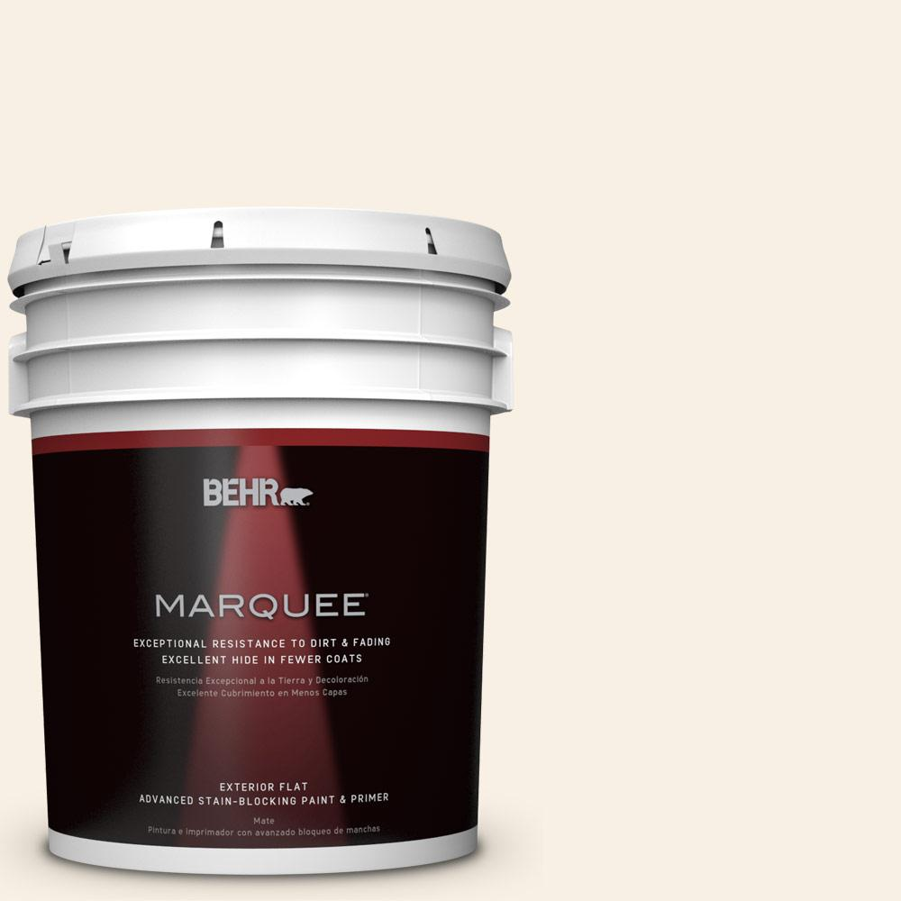 BEHR MARQUEE 5-gal. #W-F-100 Belgian Cream Flat Exterior Paint-445005 - The