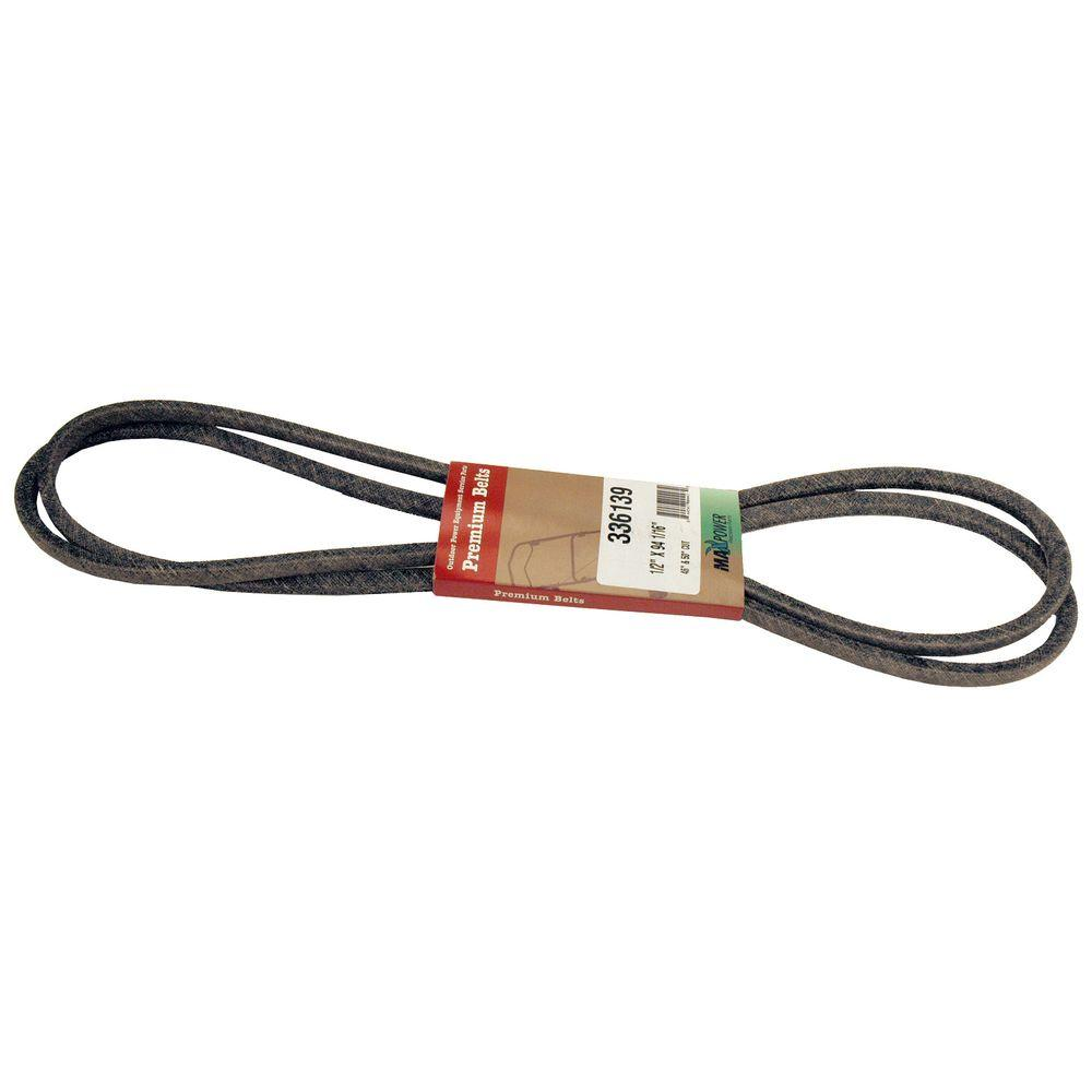 Maxpower 1/2 in. x 95.5 in. Drive Belt for 46 in. and 50 ...