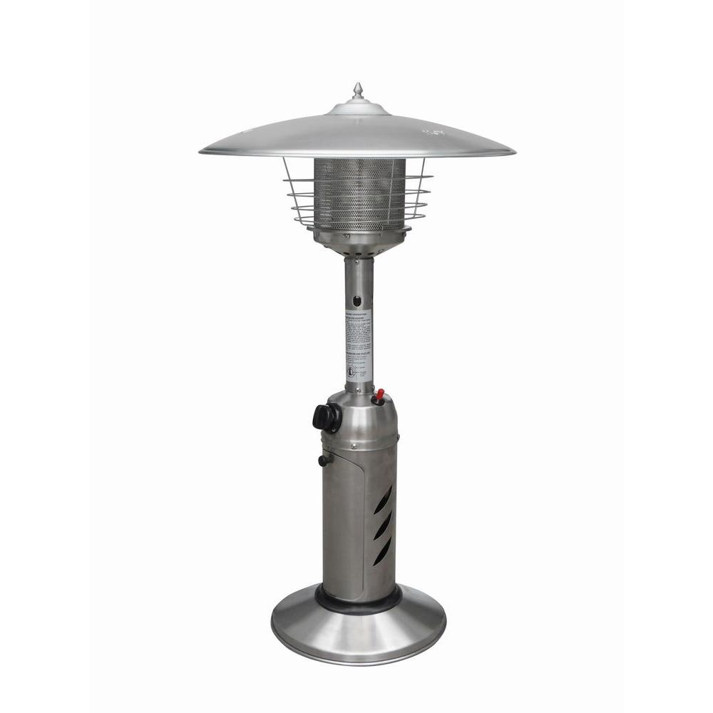 Gardensun 11,000 BTU Stainless Steel Tabletop Propane Gas Patio Heater-DISCONTINUED