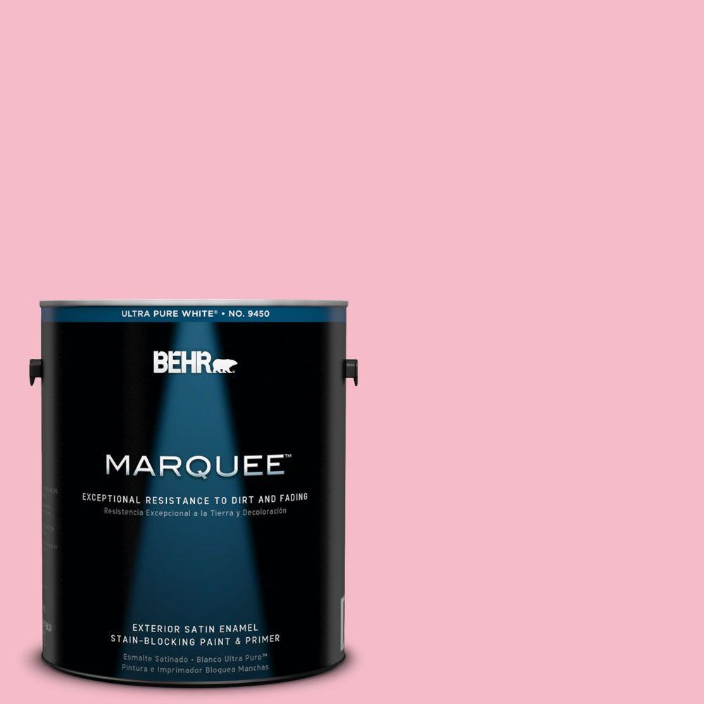 BEHR MARQUEE 1-gal. #120C-2 Pink Punch Satin Enamel Exterior Paint-945401 -