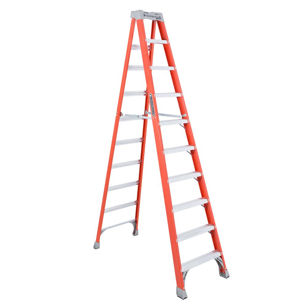 10 ft. Fiberglass Step Ladder with 300 lbs. Load Capacity Type