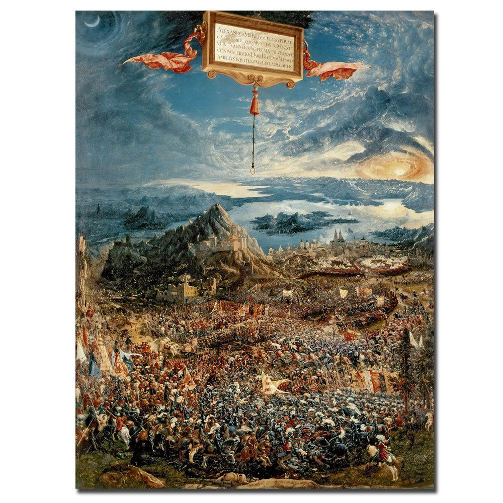 24 in. x 32 in. The Battle of Issus 1529 Canvas