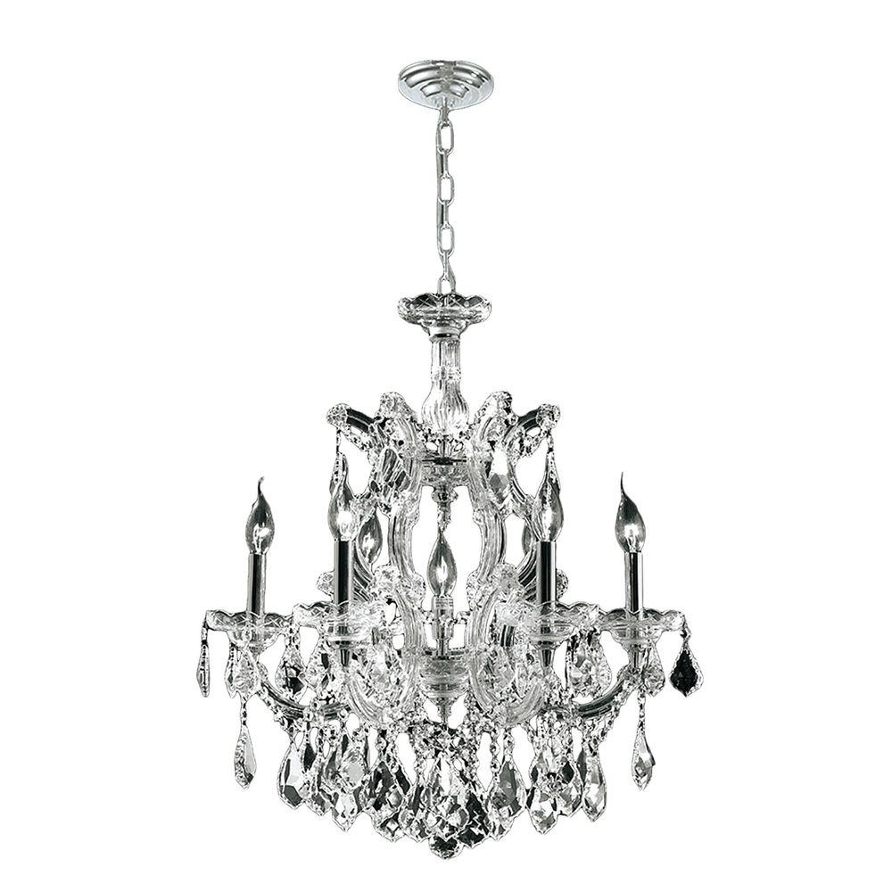 Maria Theresa Collection 7-Light Polished Chrome and Crystal Chandelier