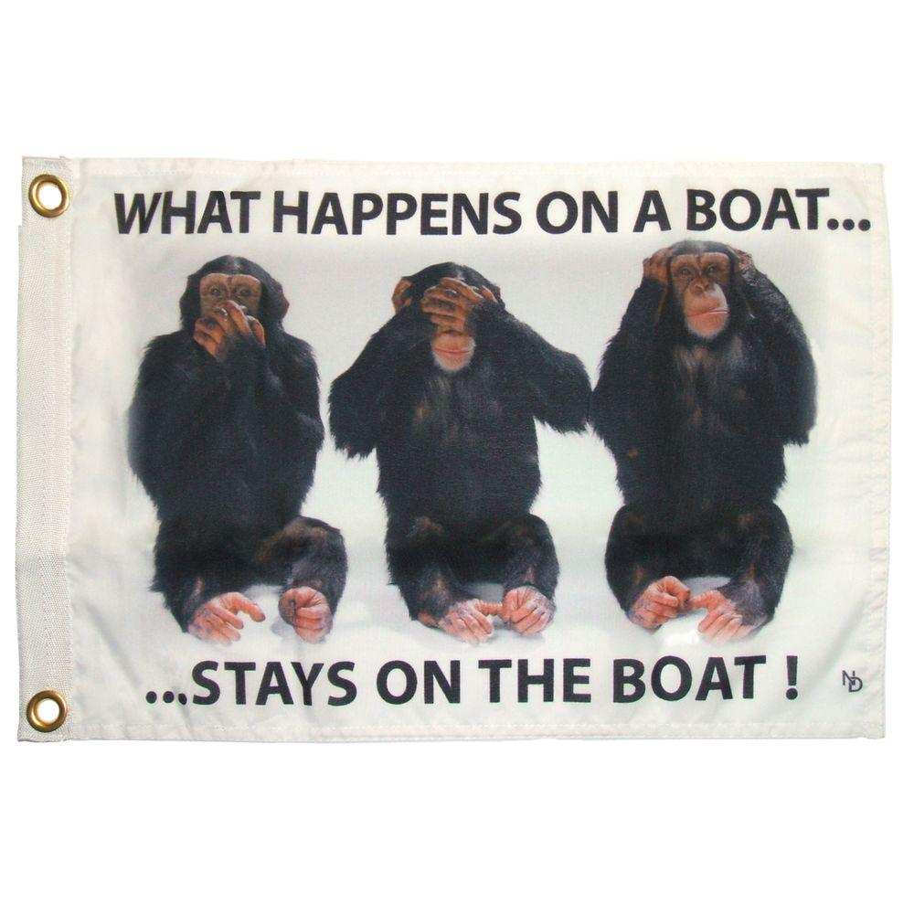 Multinautic 12 in. x 18 in. Stays on Boat Funny Flag