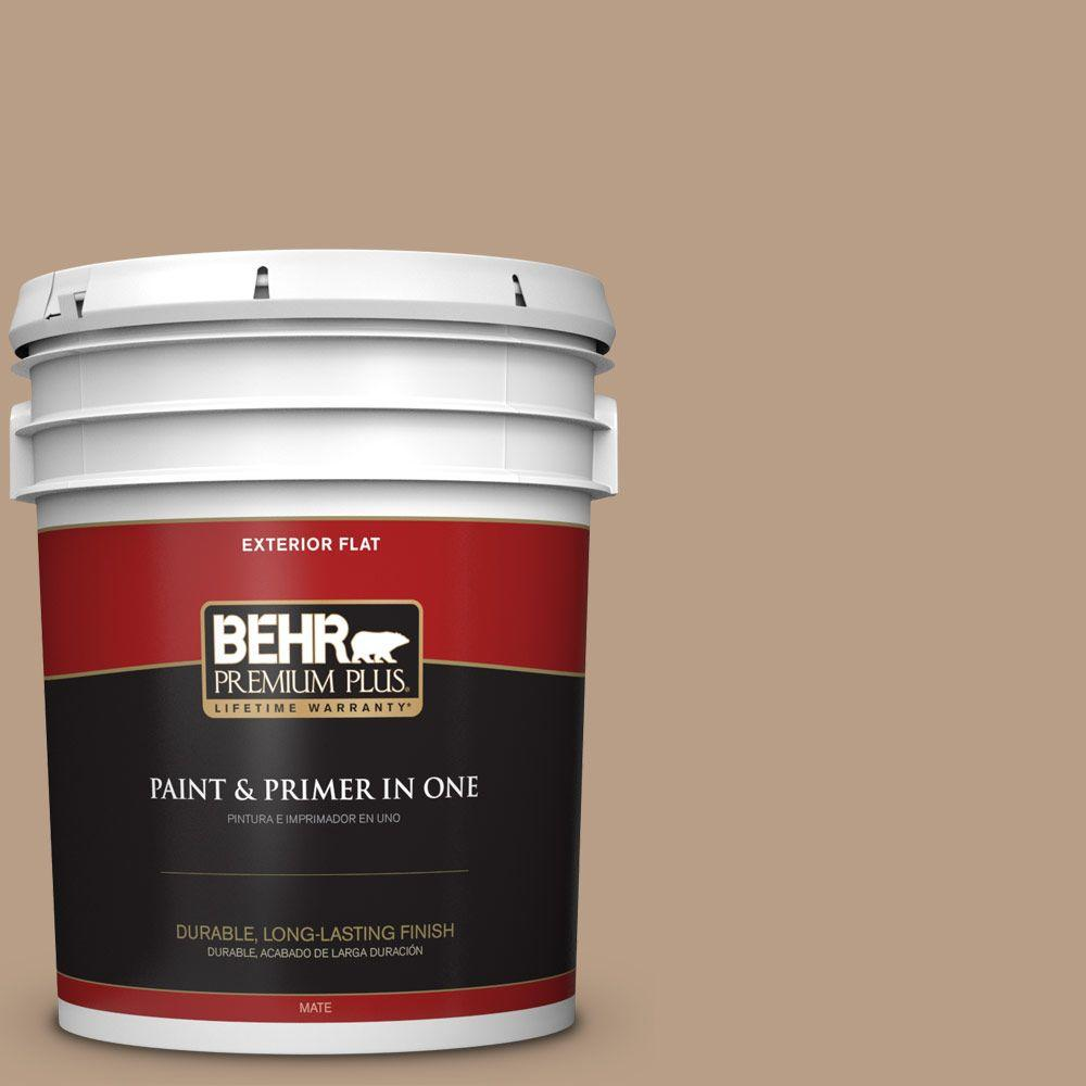 5-gal. #ICC-52 Cup of Cocoa Flat Exterior Paint