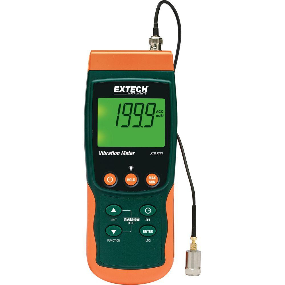 Extech Instruments Vibration Meter SD Logger-SDL800 - The Home Depot
