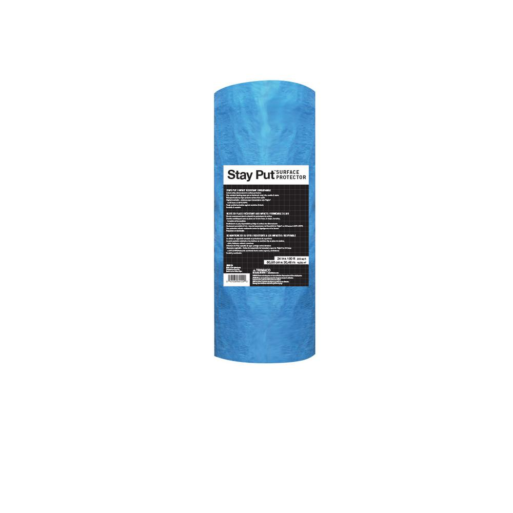 Trimaco 2 ft. x 100 ft. Stay Put Floor Protector-89124 -