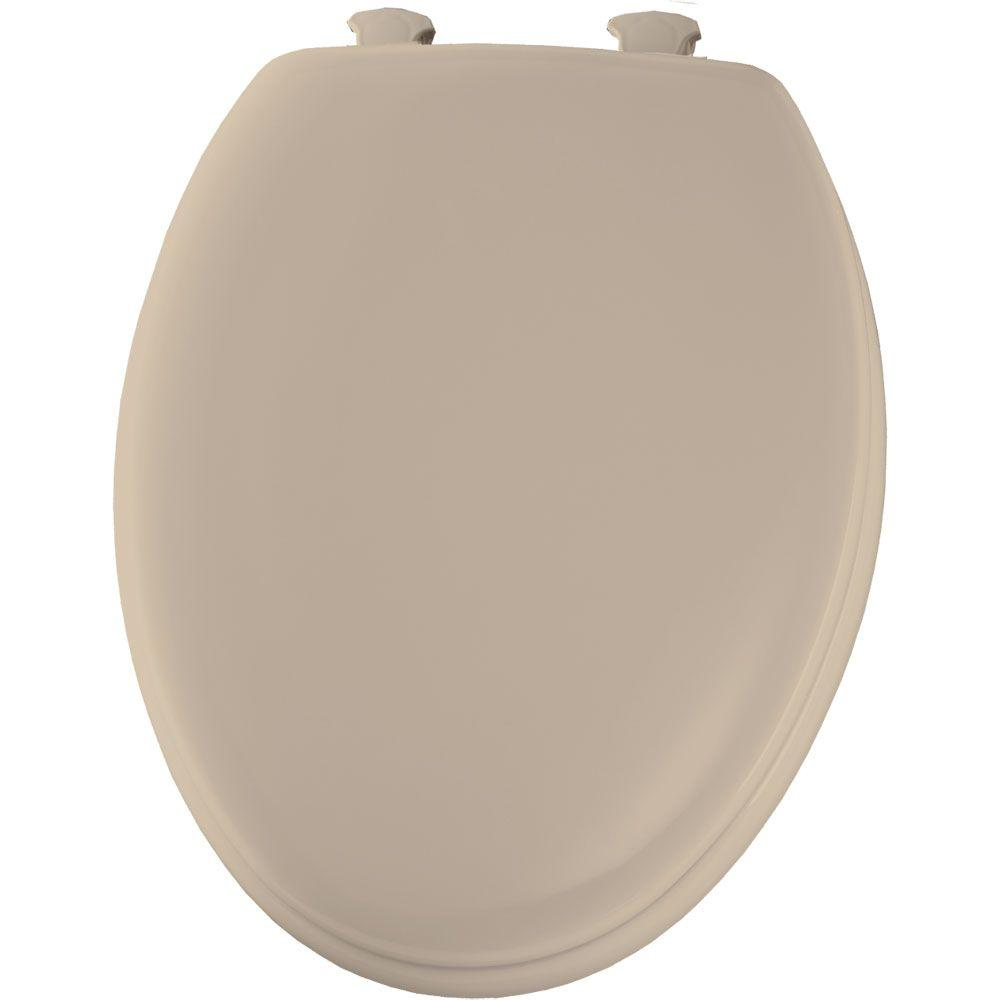 Bemis Elongated Closed Front Toilet Seat In Fawn Beige