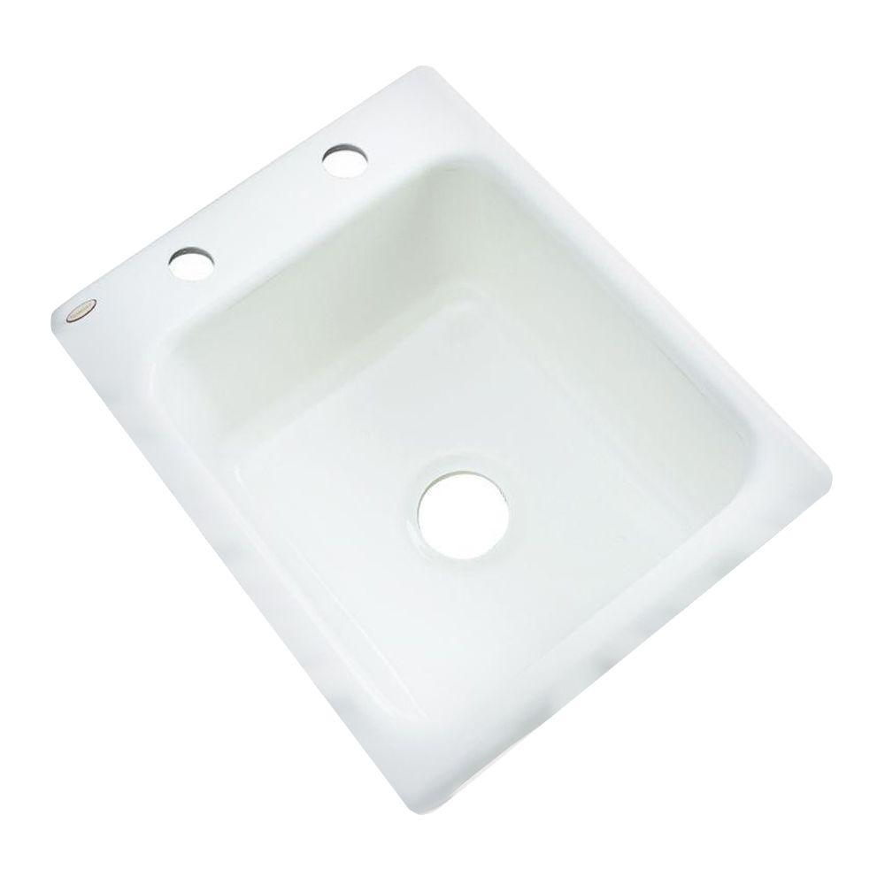 Crisfield Drop-In Acrylic 17 in. 2-Hole Single Bowl Entertainment Sink in