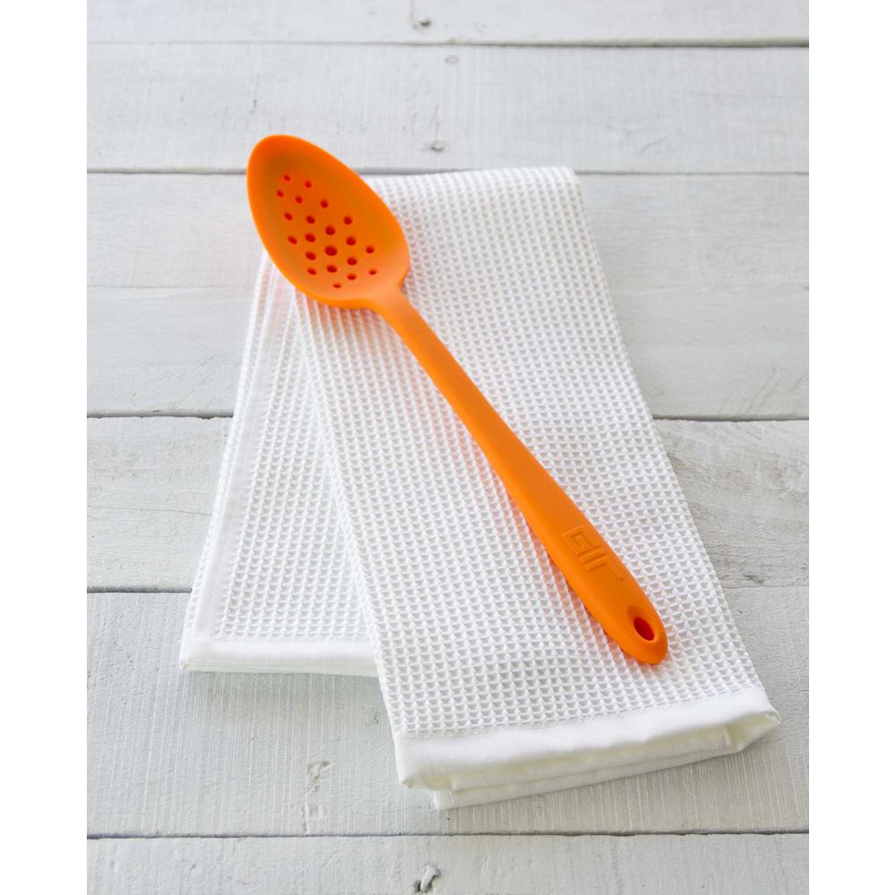 Ultimate Perforated 13 in. Silicone Spoon in Orange