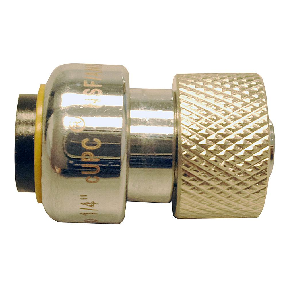 3/8 in. Chrome Plated Brass CTS Stem x 1/4 in. Push-To-Connect