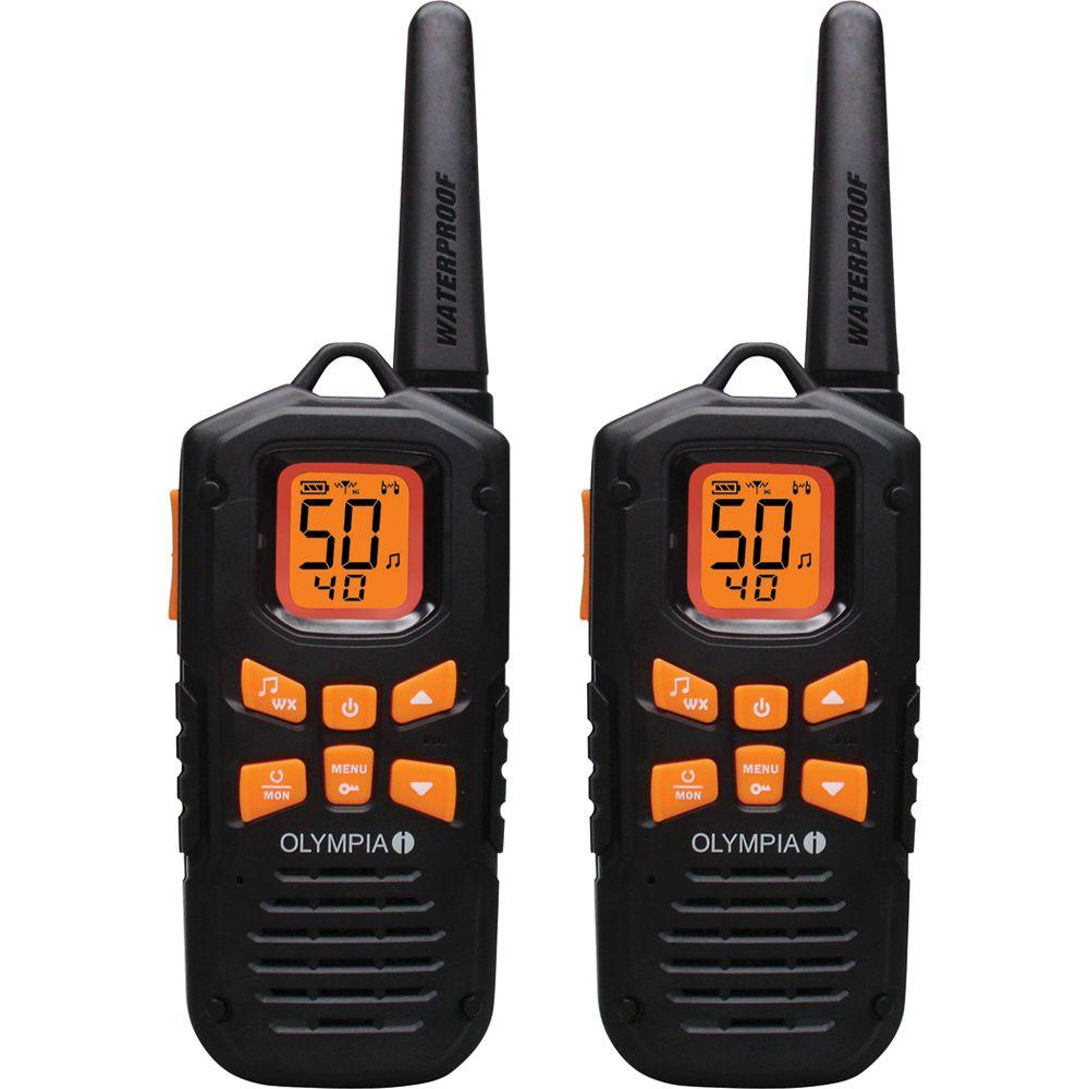 OLYMPIA 2-Way Radio Professional Hand-Held (2-Pack)