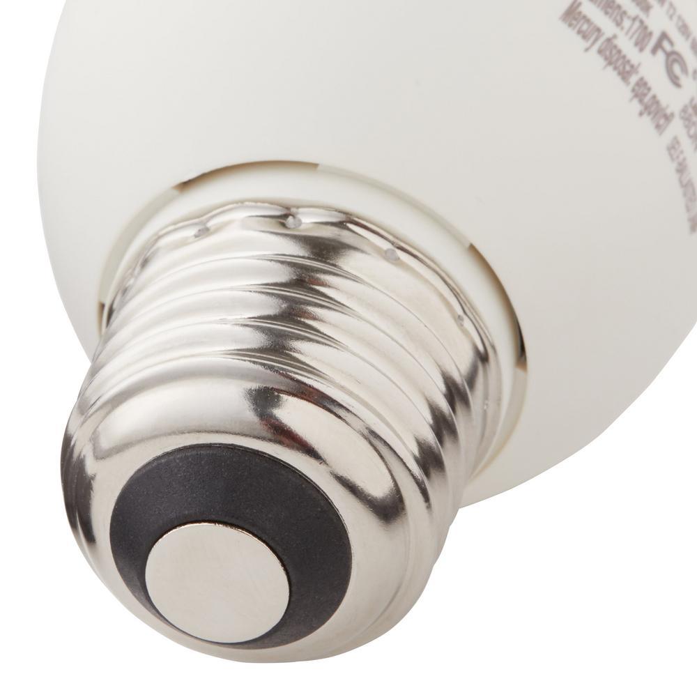CFL light bulb featuring a medium-base design