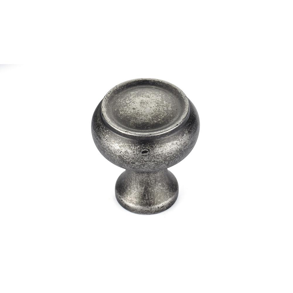 Richelieu Hardware 1-1/8 in. Pewter Cabinet Knob-BP5120530142 - The Home Depot