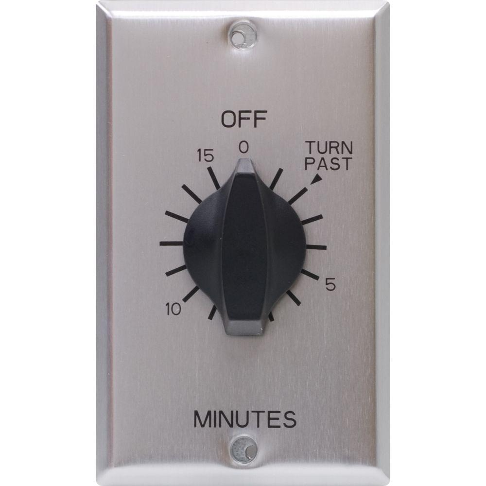 20 Amp 15 Minute In-Wall Indoor Spring Wound Timer