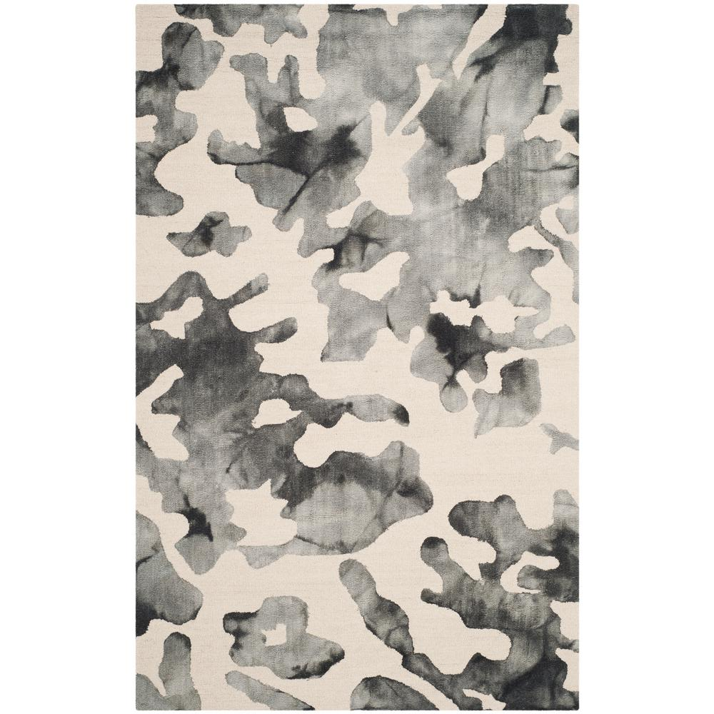 Dip Dye Beige/Charcoal 5 ft. x 8 ft. Area Rug