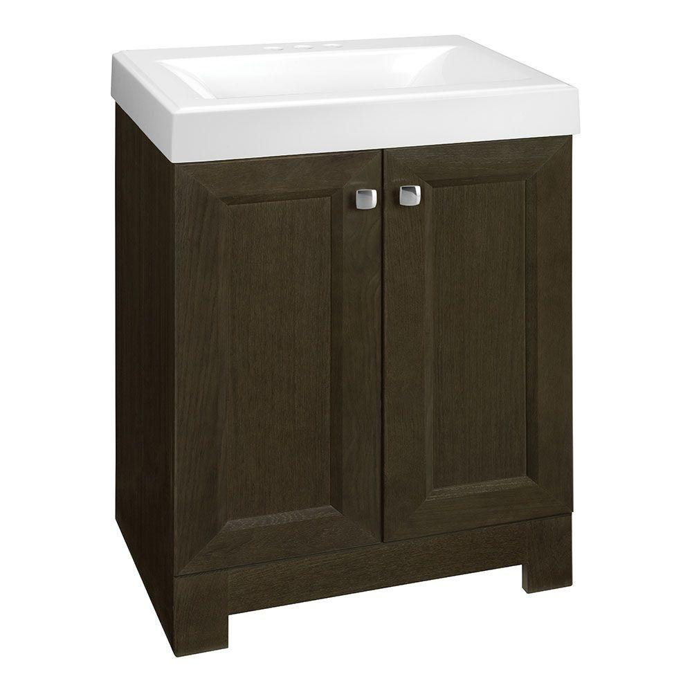 Shaila 24-1/2 in. W Vanity in Gray Oak with Cultured Marble