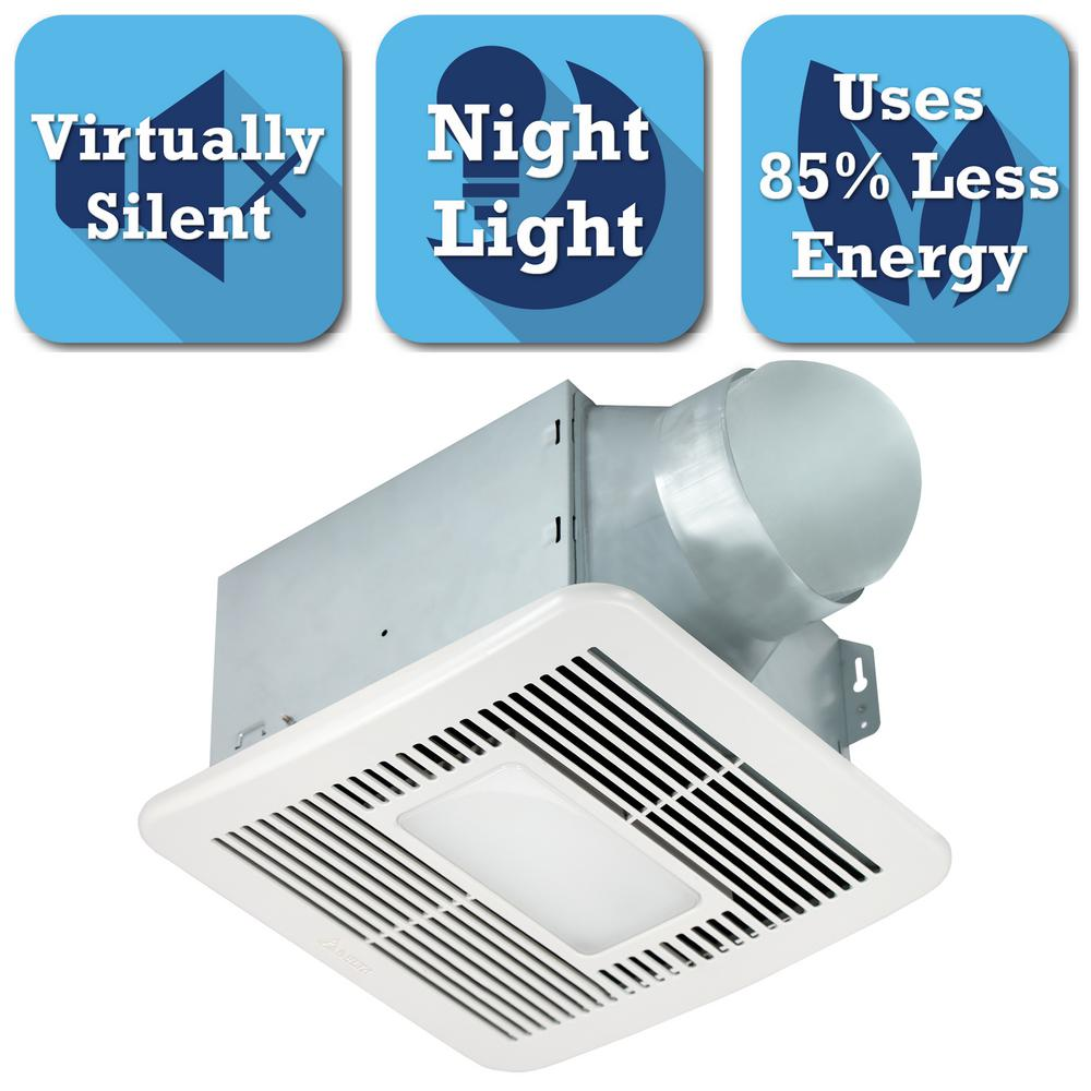 Delta Breez Smart Series 150 Cfm Ceiling Bathroom Exhaust Fan With Led Light And Night Light