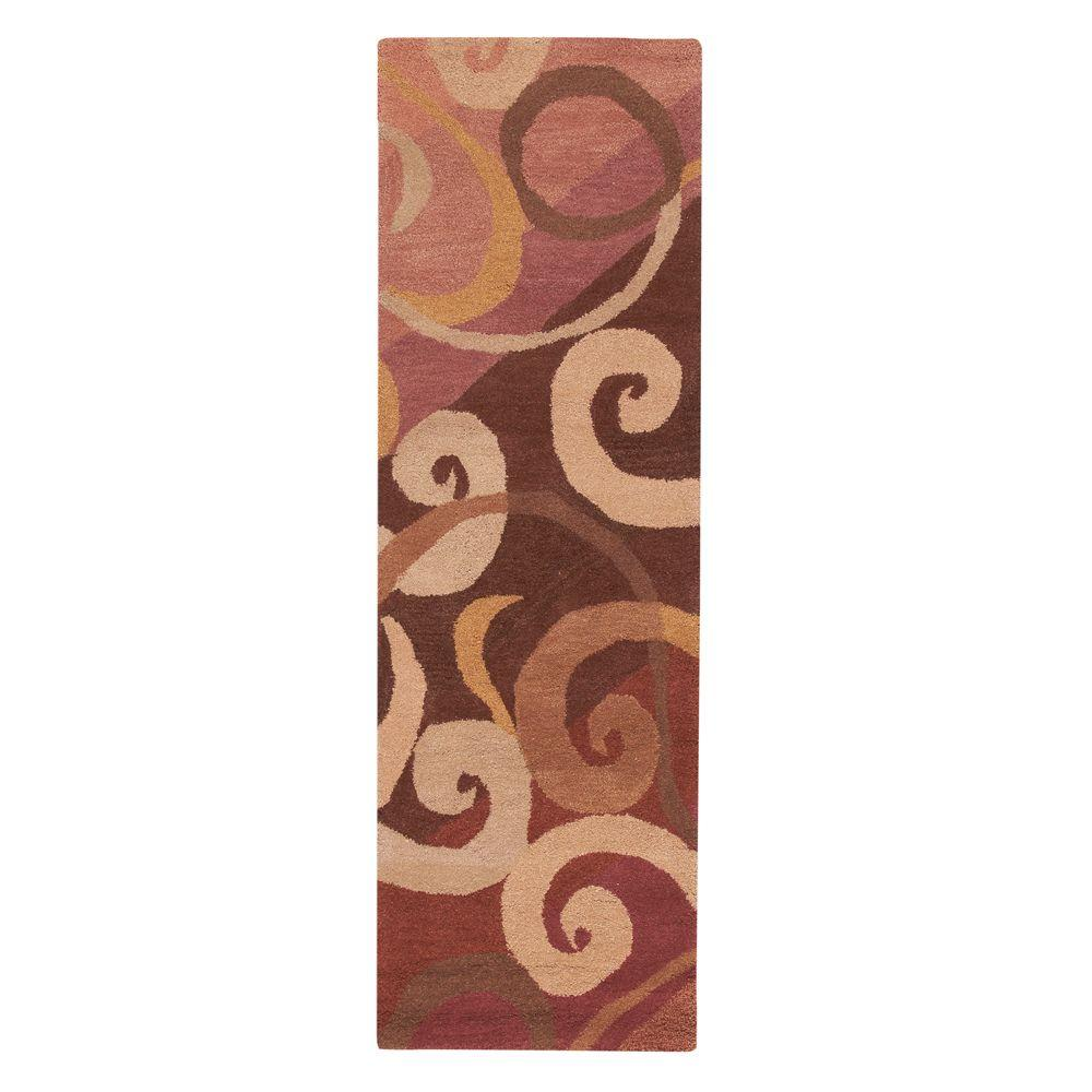 Home Decorators Collection Hypnotic Terra 2 ft. 6 in. x 10 ft. Runner