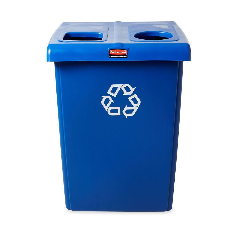 Rubbermaid Commercial Products 46 Gal. 2-Stream Glutton Recycling